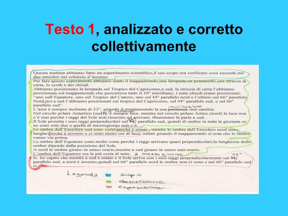 Testo 1, analizzato e corretto collettivamente