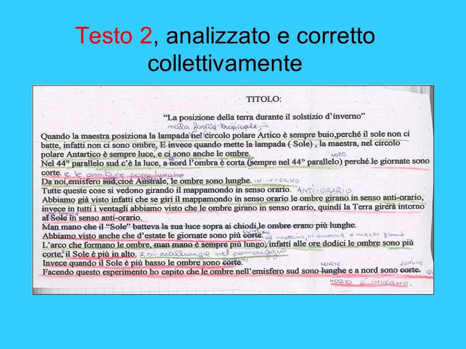 Testo 2, analizzato e corretto collettivamente