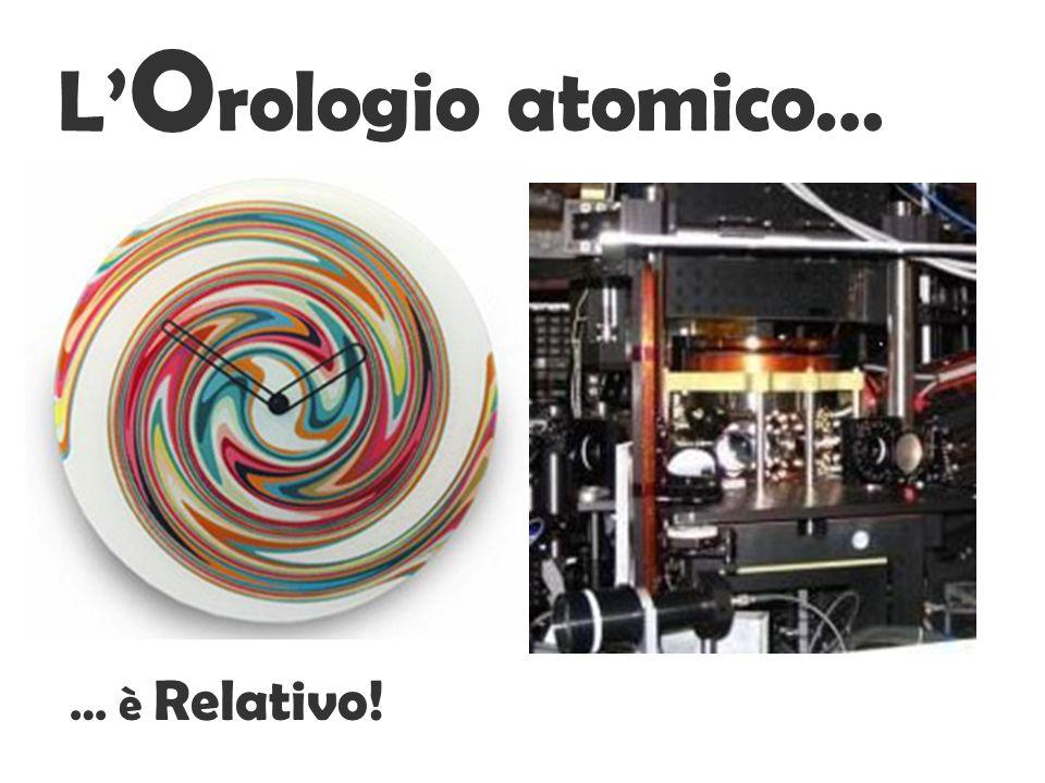 L O rologio atomico… … è Relativo!