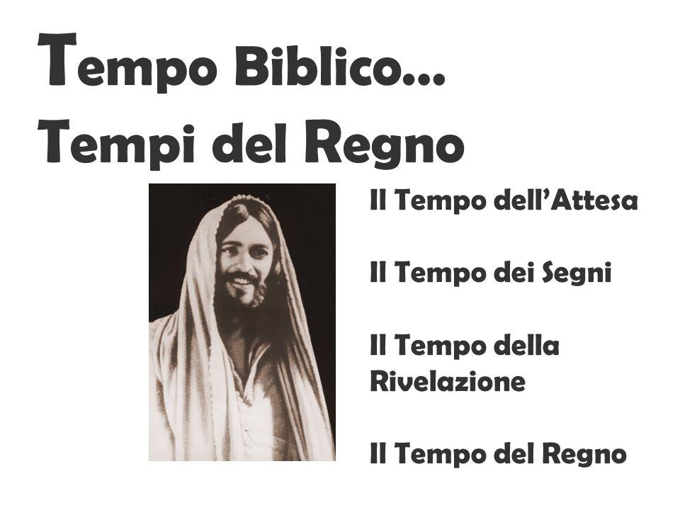 T empo Biblico… T empi del R egno Il Tempo dellAttesa Il Tempo dei Segni Il Tempo della Rivelazione Il Tempo del Regno