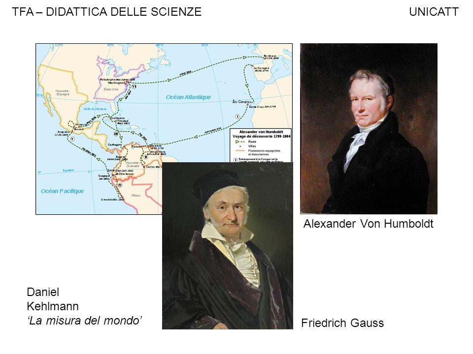 TFA – DIDATTICA DELLE SCIENZE UNICATT Alexander Von Humboldt Friedrich Gauss Daniel Kehlmann La misura del mondo