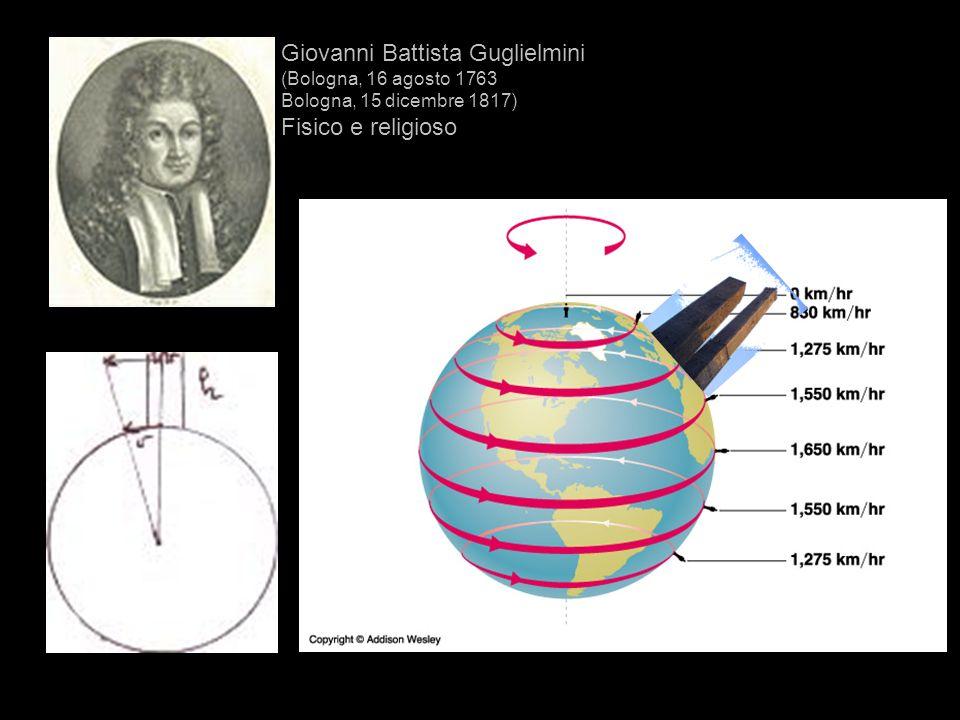 Giovanni Battista Guglielmini (Bologna, 16 agosto 1763 Bologna, 15 dicembre 1817) Fisico e religioso
