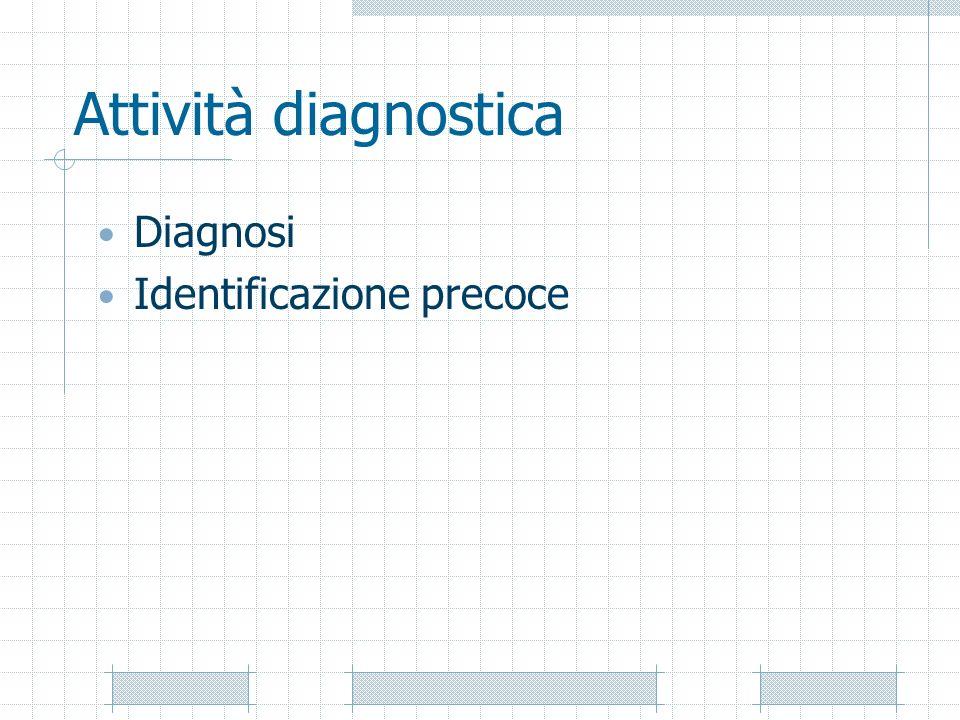 Attività diagnostica Diagnosi Identificazione precoce