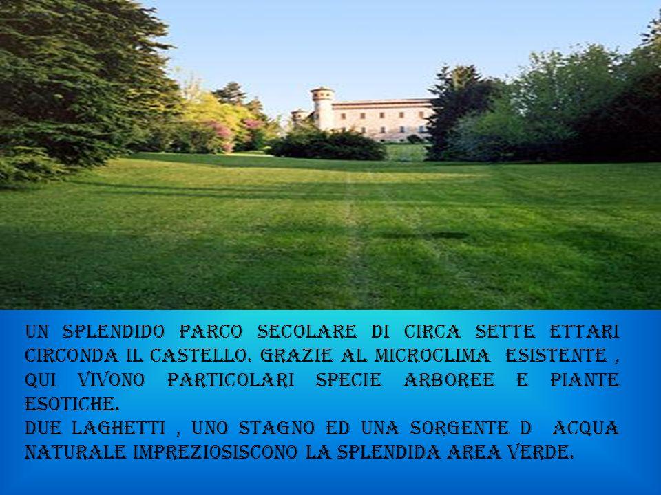 UN SPLENDIDO PARCO SECOLARE DI CIRCA SETTE ETTARI CIRCONDA IL CASTELLO.