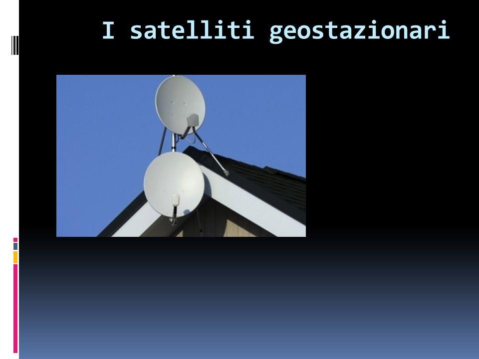 Un satellite si dice GEOSTAZIONARIO quando appare fermo rispetto alla superficie terrestre.