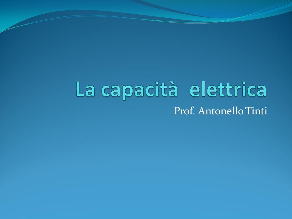 CAPACITA ELETTRICA La carica Q su di un conduttore isolato e il suo potenziale V sono direttamente proporzionali.