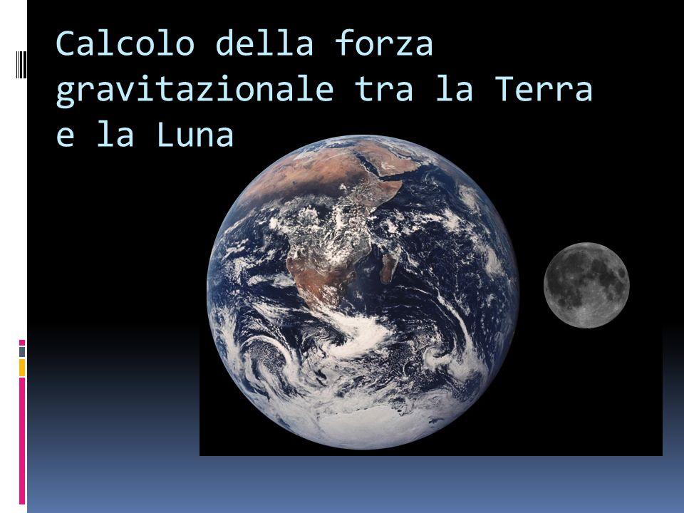 Calcolo della forza gravitazionale tra la Terra e la Luna
