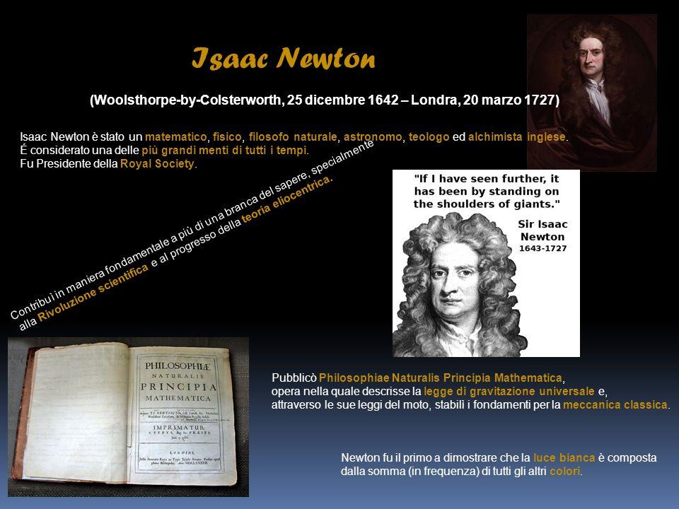 Christiaan Huygens (L Aia, 14 aprile 1629 – L Aia, 8 luglio 1695) Christiaan Huygens è stato un matematico, astronomo e fisico olandese, fra i protagonisti della rivoluzione scientifica.