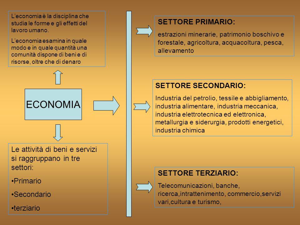 ECONOMIA Leconomia è la disciplina che studia le forme e gli effetti del lavoro umano. Leconomia esamina in quale modo e in quale quantità una comunit
