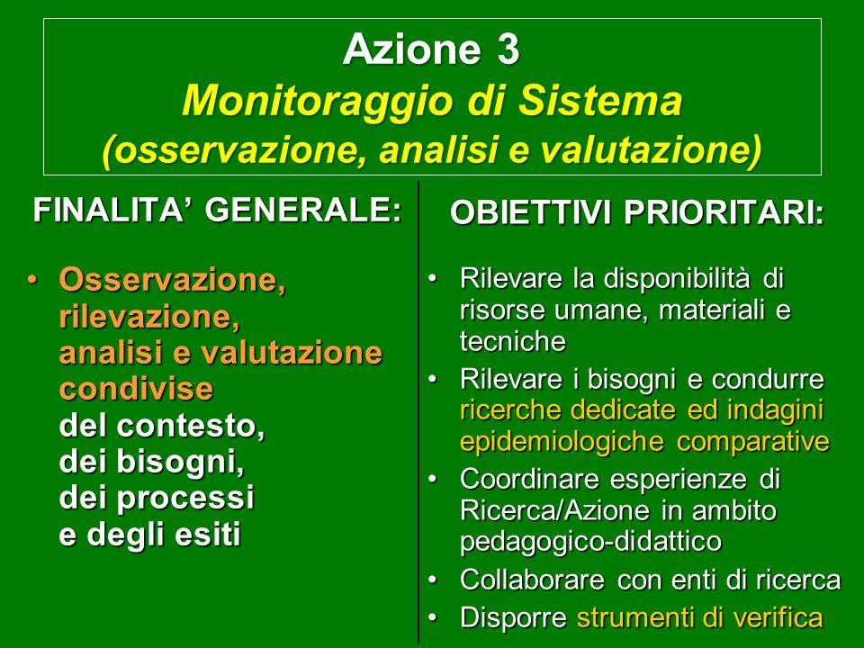 Azione 2 Supporto di gestione (tecnico, informativo e formativo) FINALITA GENERALE: Definizione, armonizzazione o implementazione di misure condivise,