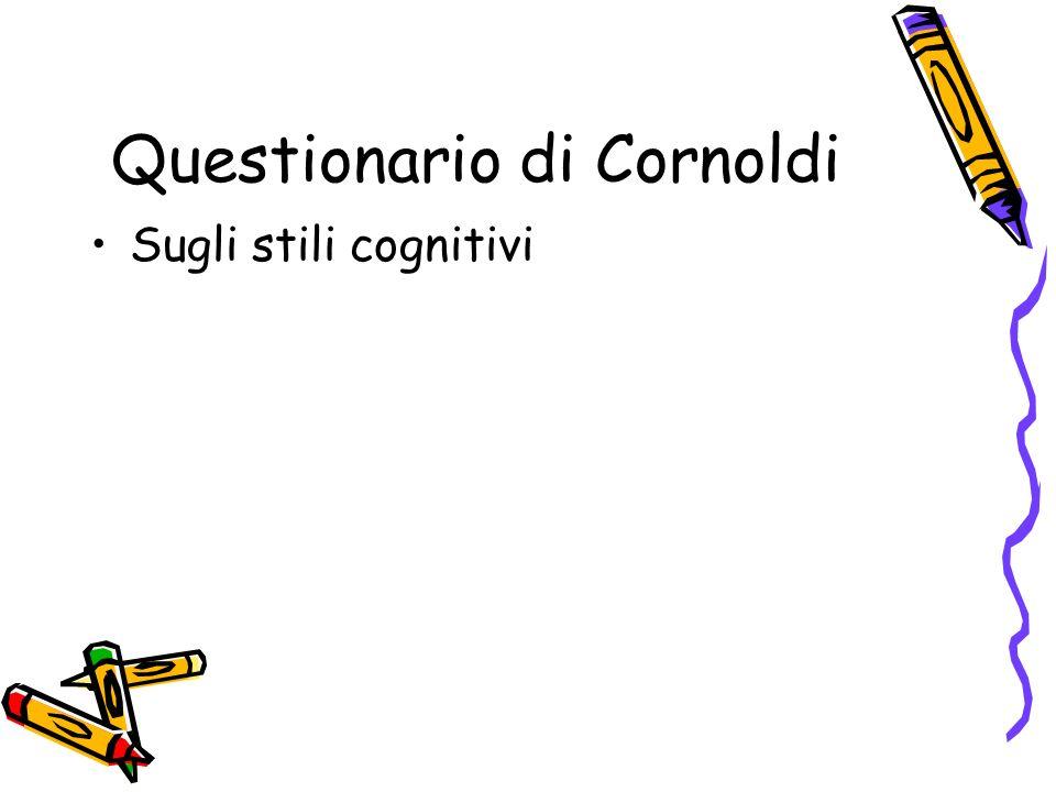 Questionario di Cornoldi Sugli stili cognitivi