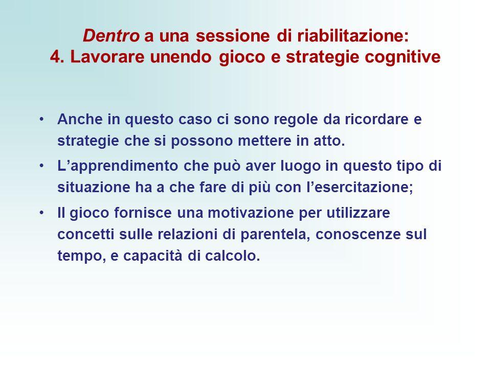 Dentro a una sessione di riabilitazione: 4.