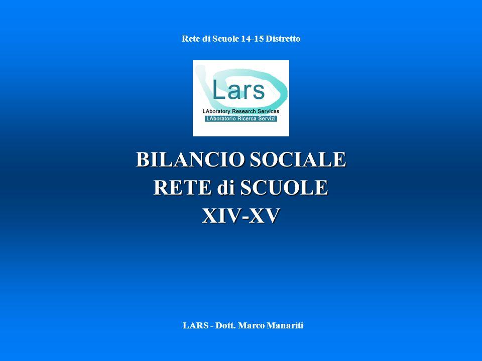 Rete di Scuole 14-15 Distretto BILANCIO SOCIALE RETE di SCUOLE XIV-XV LARS - Dott. Marco Manariti