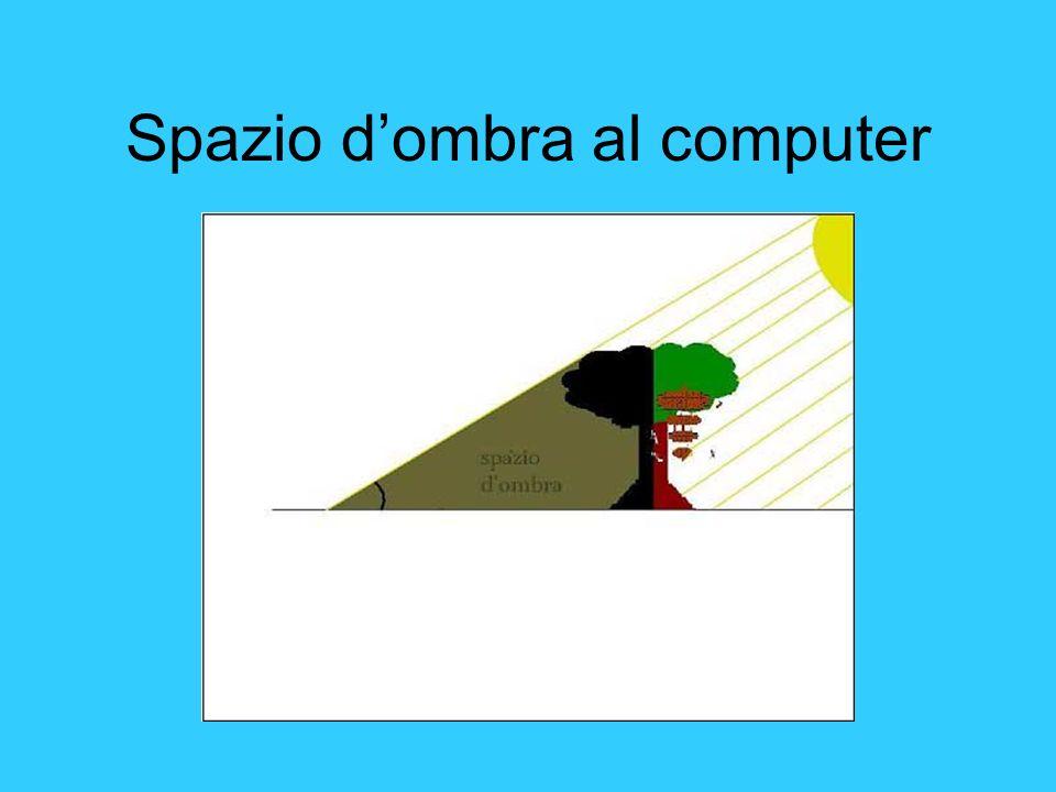 Spazio dombra al computer