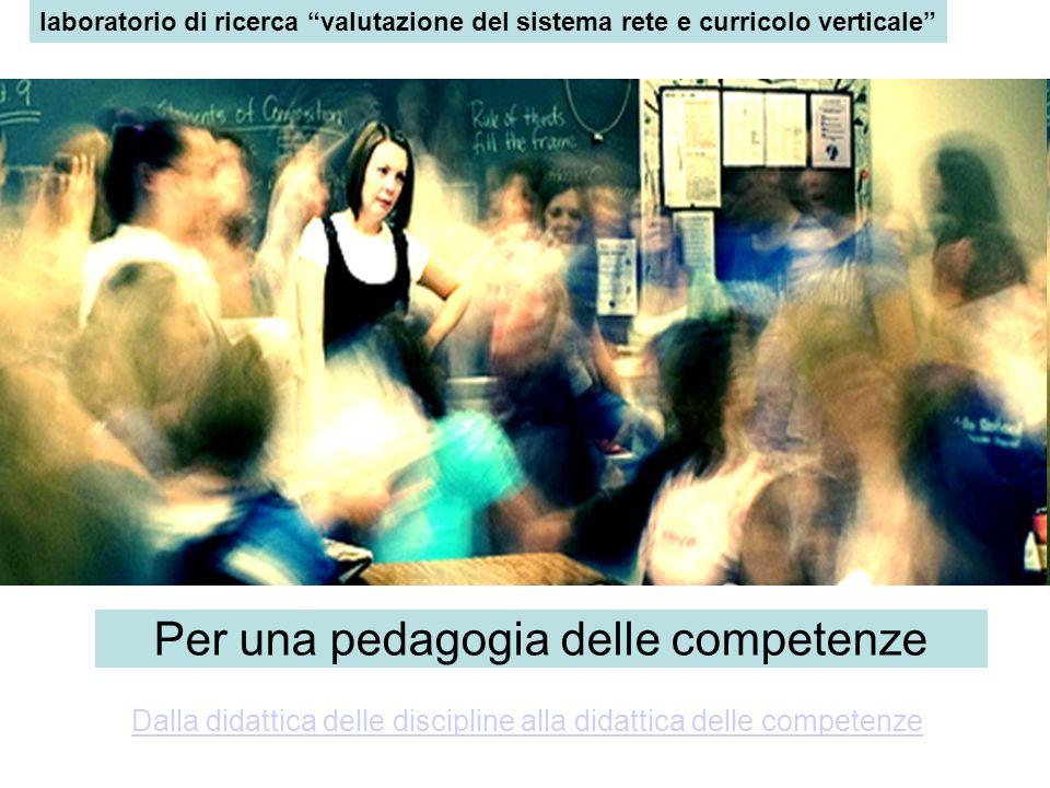 laboratorio di ricerca valutazione del sistema rete e curricolo verticale Per una pedagogia delle competenze Dalla didattica delle discipline alla did