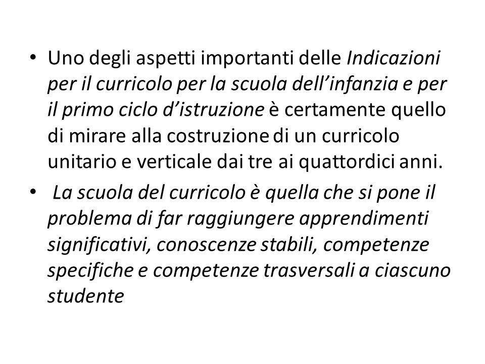 Esiste già un progetto AS realizzato dallex IRRE Toscana che ha messo in rete materiali su curricoli che sono stati scelti a livello nazionale.