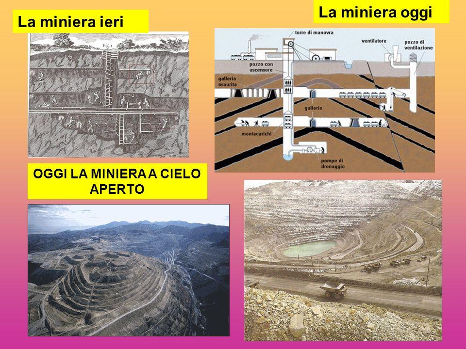 La miniera ieri OGGI LA MINIERA A CIELO APERTO La miniera oggi
