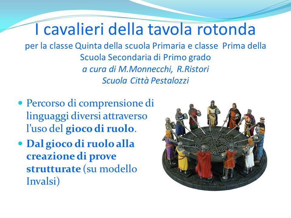 I cavalieri della tavola rotonda per la classe Quinta della scuola Primaria e classe Prima della Scuola Secondaria di Primo grado a cura di M.Monnecch