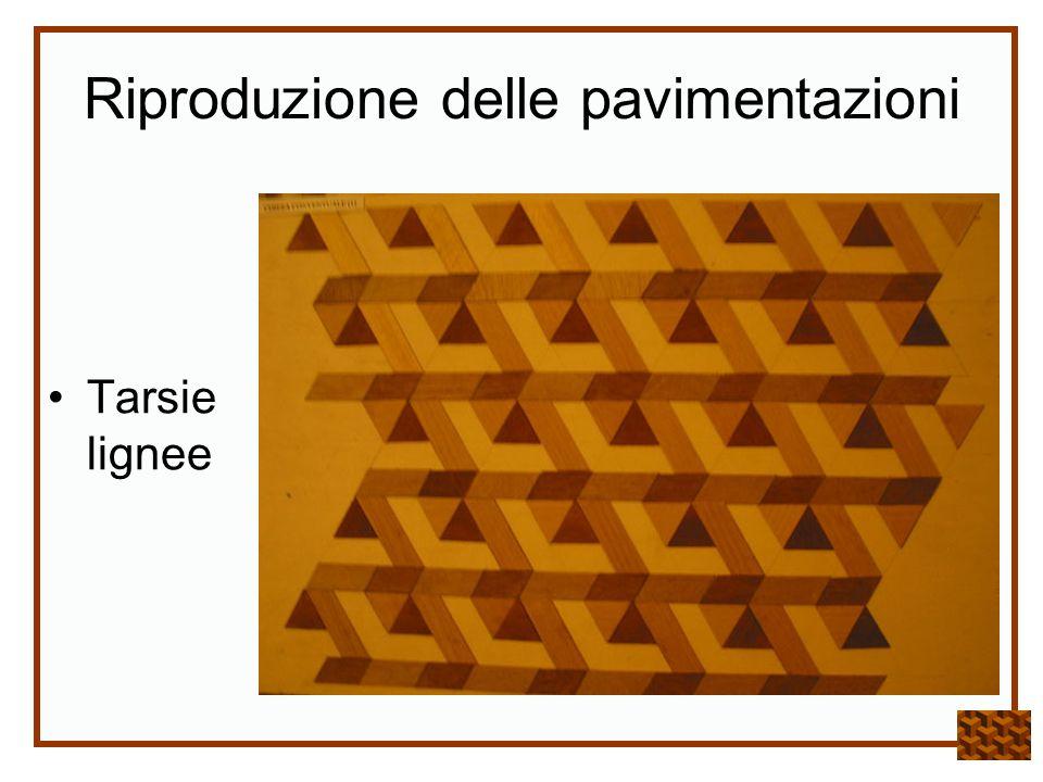 Riproduzione delle pavimentazioni Tarsie lignee