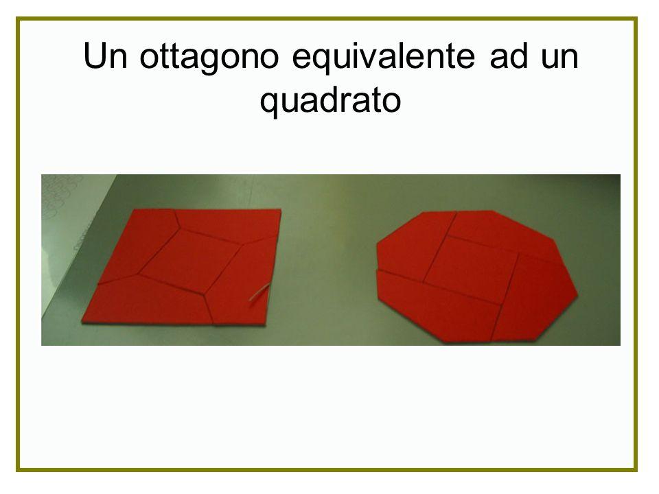 Un ottagono equivalente ad un quadrato