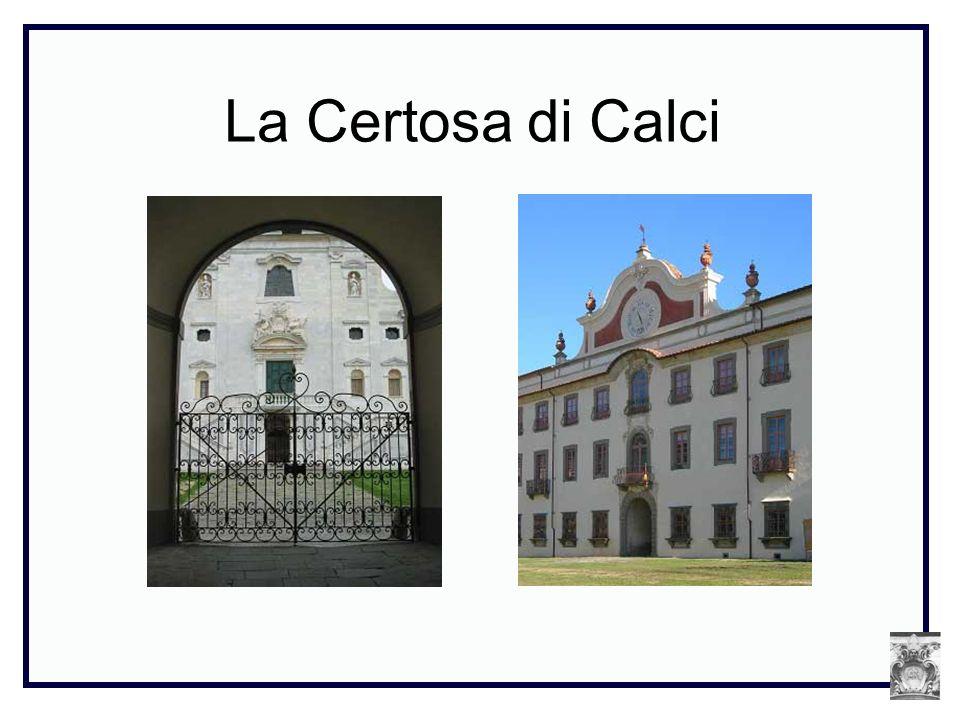 Fondata nel maggio del 1366 dall Arcive- scovo di Pisa Francesco Moricotti, per adempiere alle volontà testamentarie del mercante pisano, di origine armena, Pietro di Mirante della Vergine, la Certosa sorge vicino a Pisa, in un luogo detto Valle graziosa.