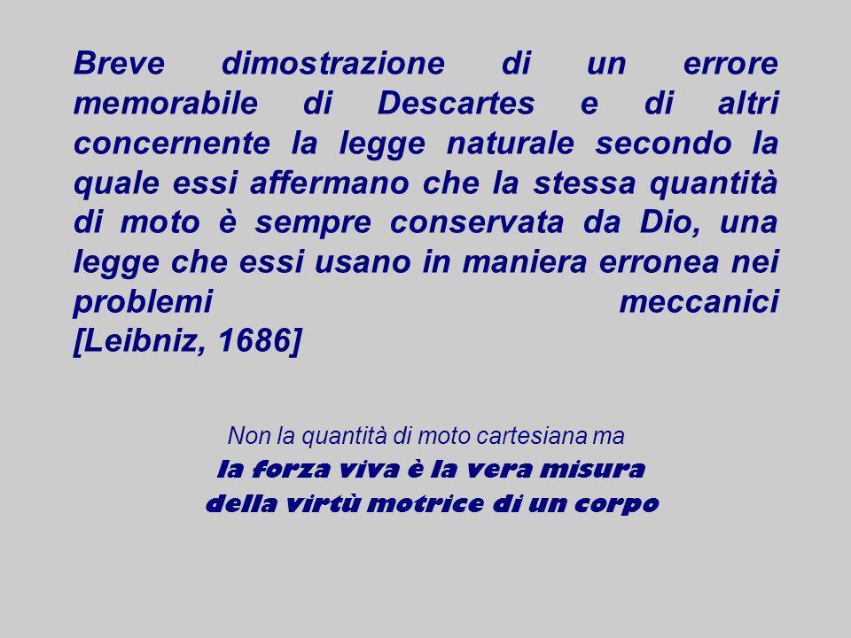 Breve dimostrazione di un errore memorabile di Descartes e di altri concernente la legge naturale secondo la quale essi affermano che la stessa quanti