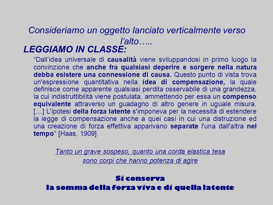 LEGGIAMO IN CLASSE: Dallidea universale di causalità viene sviluppandosi in primo luogo la convinzione che anche fra qualsiasi deperire e sorgere nell