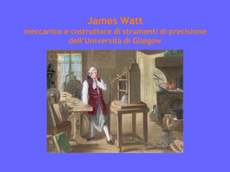 James Watt meccanico e costruttore di strumenti di precisione dellUniversità di Glasgow