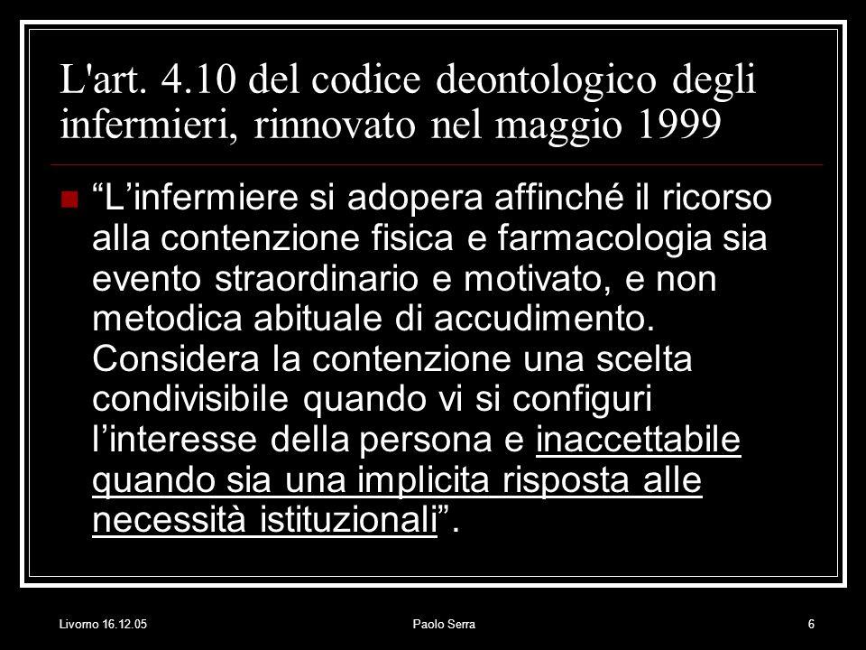 Livorno 16.12.05Paolo Serra6 L art.