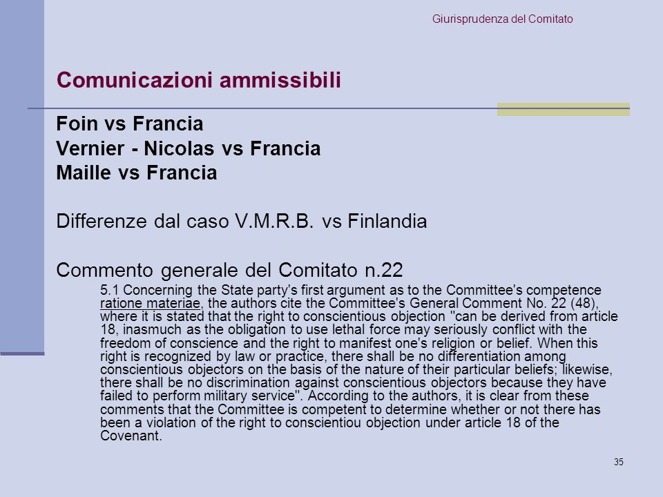 36 Decisione del Comitato: 6.2 Concerning the requirement of exhaustion of available domestic remedies, the Committee took note of the fact that the authors had exhausted all the judicial remedies that were open to them.