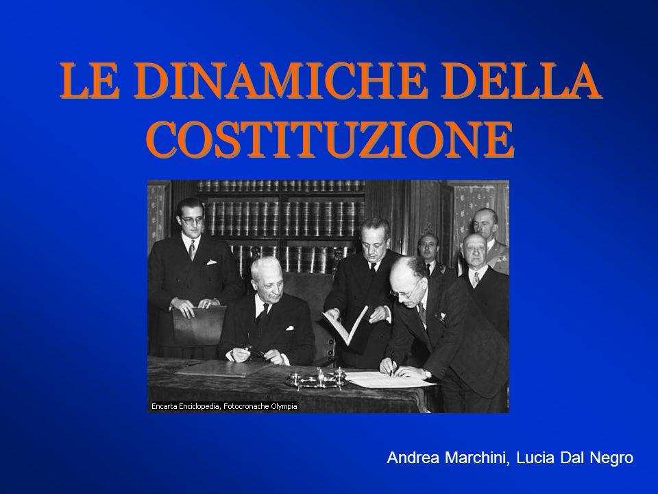LE DINAMICHE DELLA COSTITUZIONE Andrea Marchini, Lucia Dal Negro