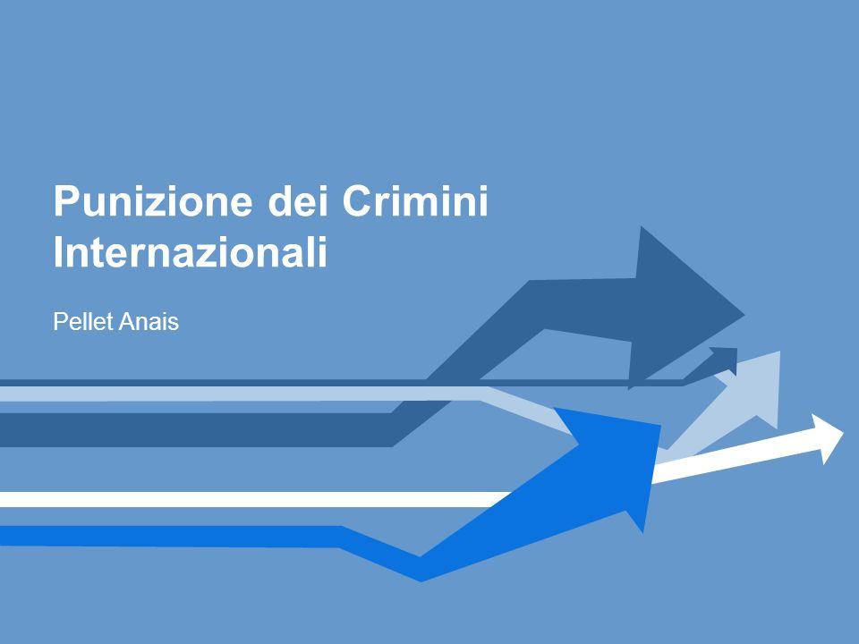 Punizione dei Crimini Internazionali Pellet Anais