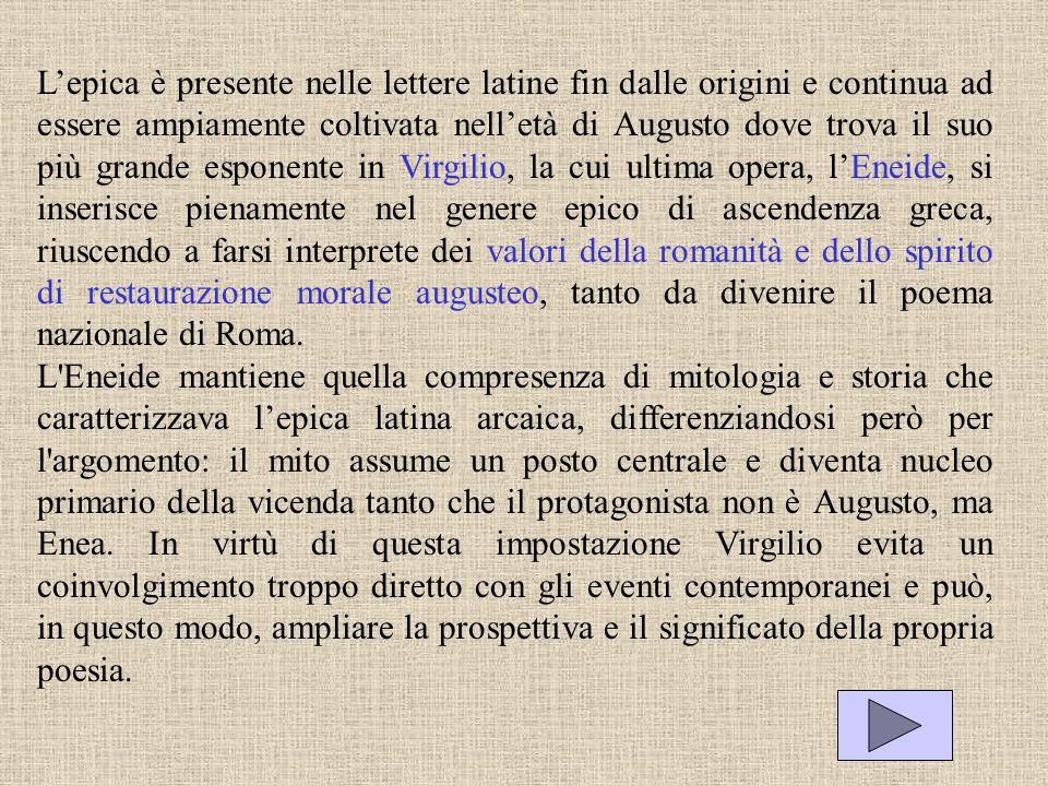 Lepica è presente nelle lettere latine fin dalle origini e continua ad essere ampiamente coltivata nelletà di Augusto dove trova il suo più grande esp