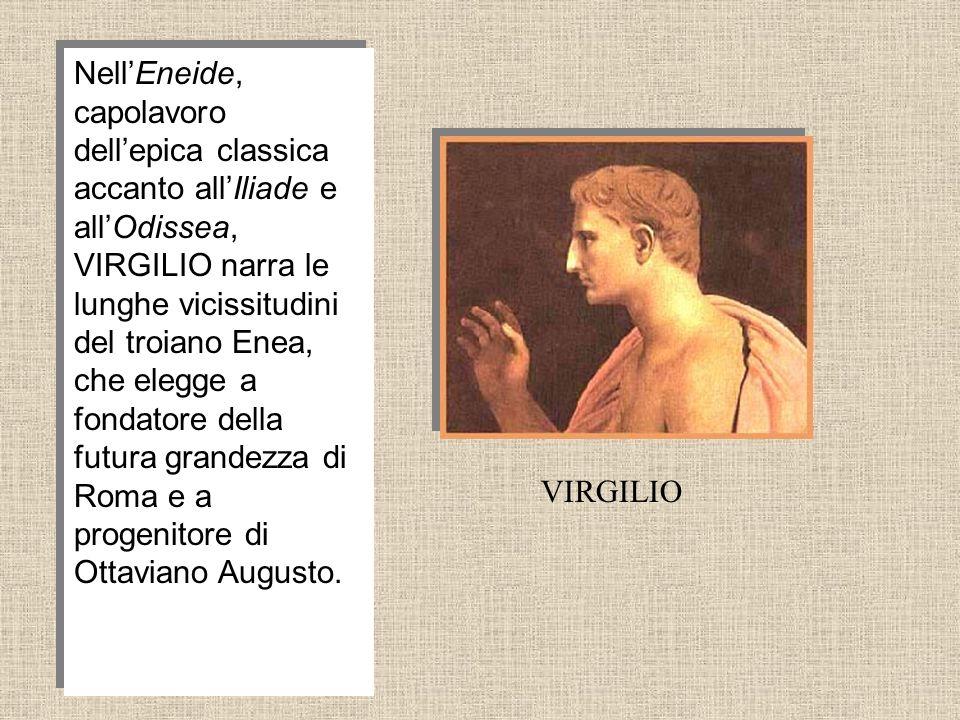NellEneide, capolavoro dellepica classica accanto allIliade e allOdissea, VIRGILIO narra le lunghe vicissitudini del troiano Enea, che elegge a fondat