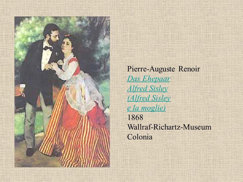 Pierre-Auguste Renoir Das Ehepaar Alfred Sisley (Alfred Sisley e la moglie) 1868 Wallraf-Richartz-Museum Colonia Das Ehepaar Alfred Sisley (Alfred Sis