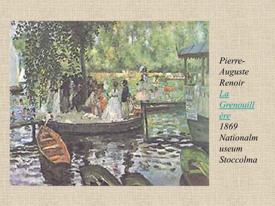 Pierre- Auguste Renoir La Grenouill ère 1869 Nationalm useum Stoccolma La Grenouill ère