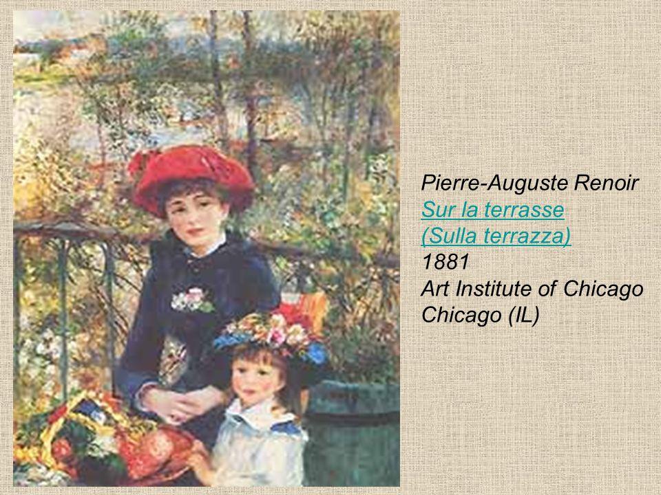 Pierre-Auguste Renoir Sur la terrasse (Sulla terrazza) 1881 Art Institute of Chicago Chicago (IL) Sur la terrasse (Sulla terrazza)