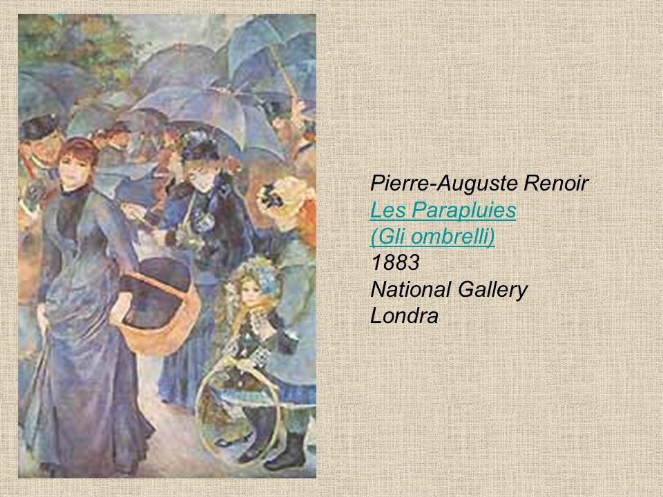 Pierre-Auguste Renoir Les Parapluies (Gli ombrelli) 1883 National Gallery Londra Les Parapluies (Gli ombrelli)