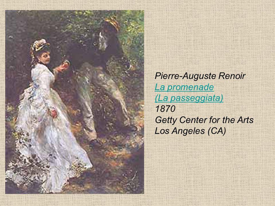 Pierre-Auguste Renoir La promenade (La passeggiata) 1870 Getty Center for the Arts Los Angeles (CA) La promenade (La passeggiata)
