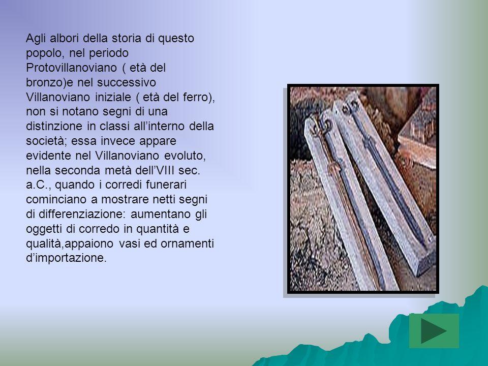I prodotti per cui gli Etruschi erano conosciuti erano: i l vino, i vasi, le suppellettili e le armi di bronzo.