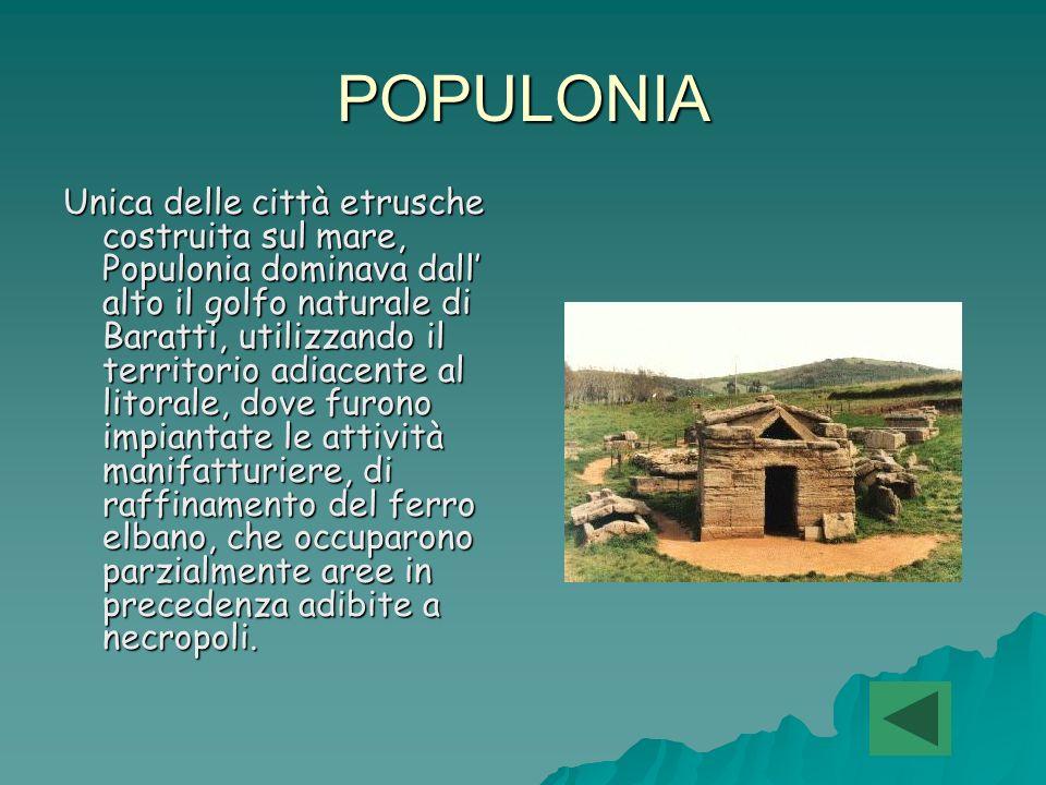 VETULONIA Il centro moderno occupa una delle alture sulle quali sorgeva la città antica, dominata da un area fortificata ( la cosiddetta ARCE ), provvista di un proprio sistema di mura.