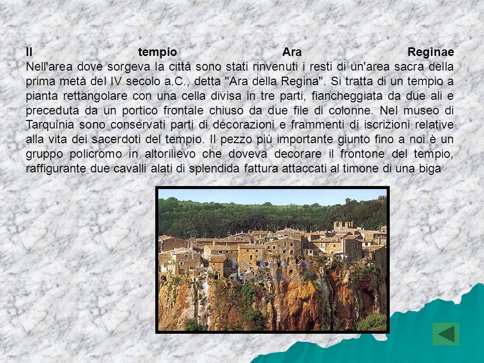 La storia L antica città di Tarquinia (in etrusco TarXna) sorgeva sul colle La Civita, a breve distanza dalla città nuova.