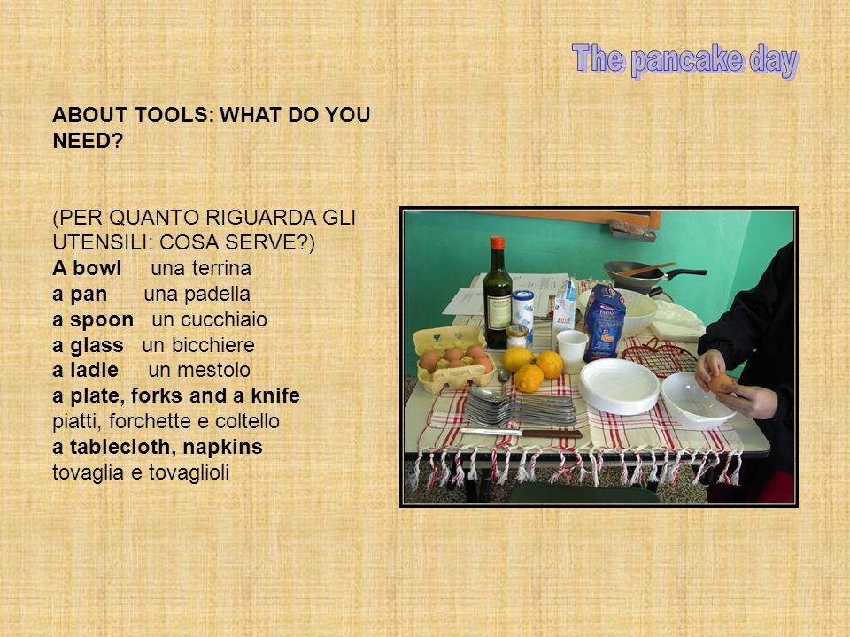 ABOUT TOOLS: WHAT DO YOU NEED.