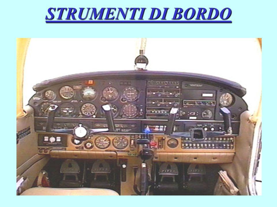 Qualunque sia il velivolo considerato, gli strumenti di bordo si classificano in base alla funzione che ognuno è preposto a svolgere in : Strumenti di guida o pilotaggio Strumenti di Navigazione Strumenti di controllo del motore Strumenti radio di comunicazione