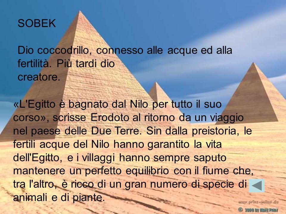 «L'Egitto è bagnato dal Nilo per tutto il suo corso», scrisse Erodoto al ritorno da un viaggio nel paese delle Due Terre. Sin dalla preistoria, le fer