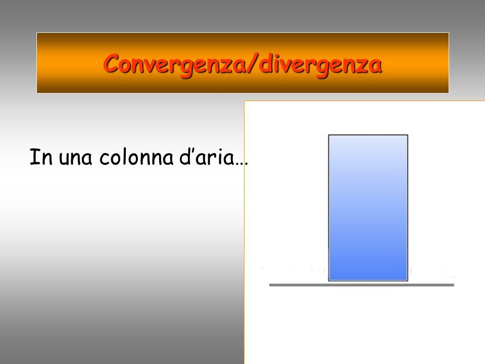 Convergenza/divergenza In una colonna daria…
