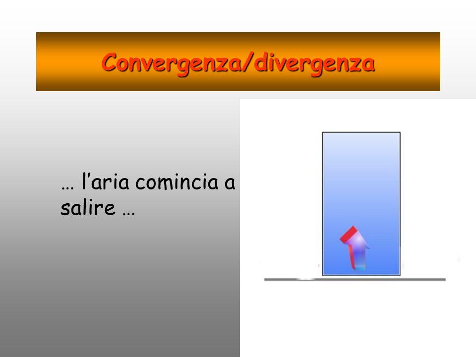 Convergenza/divergenza … laria comincia a salire …