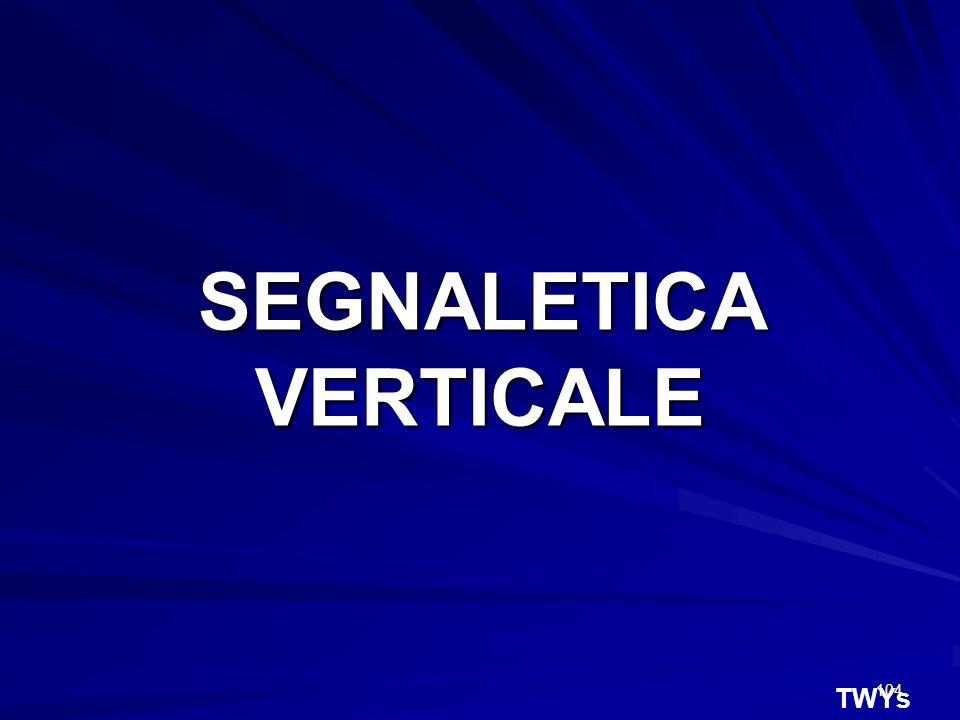 104 TWYs SEGNALETICA VERTICALE