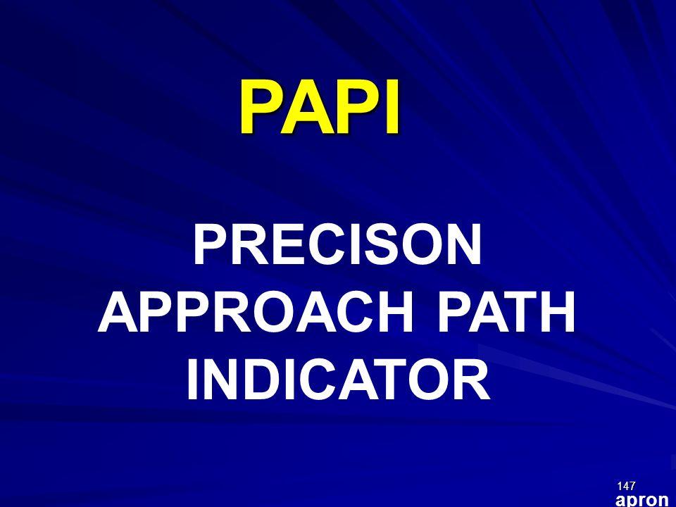 147 apron PAPI PRECISON APPROACH PATH INDICATOR