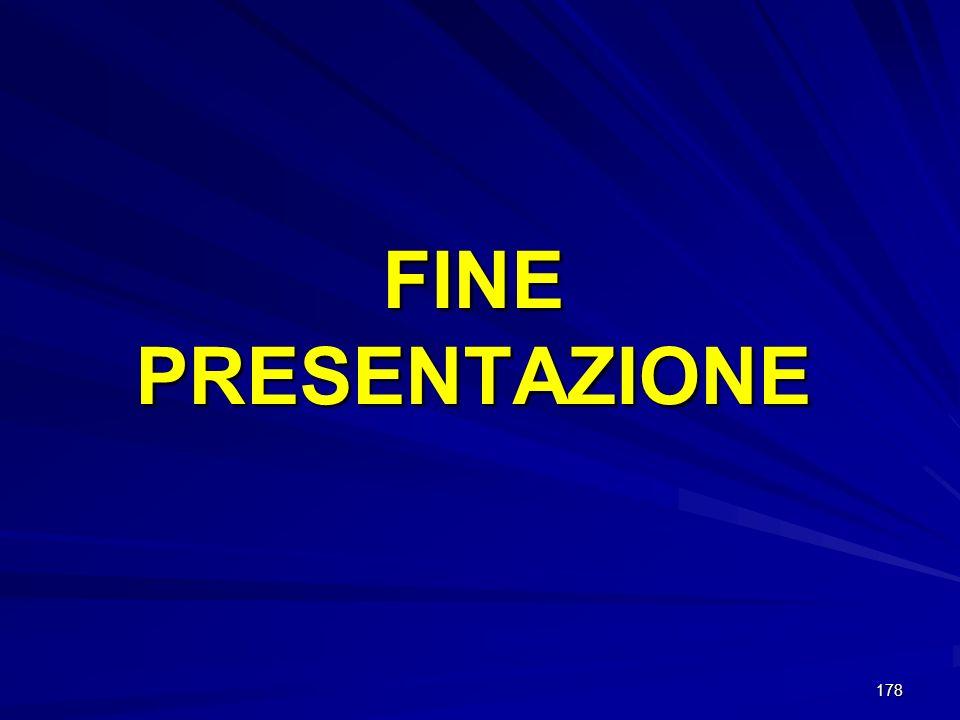178 FINE PRESENTAZIONE